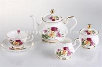English Royal tea sets bone china with gold painted rimmed