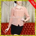 oem 2014 nueva venta al por mayor de moda blusa de gasa para la media de edad de las mujeres
