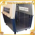 Ao ar livre portátil gaiola do cão de plástico combinam com fio na roda de gaiolas para animais de estimação, transportadoras& casas