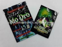 Custom small zipper bags with plastic foil material