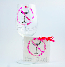Hot Glitter I'm duel crystal sticker for wine glass wedding decoration