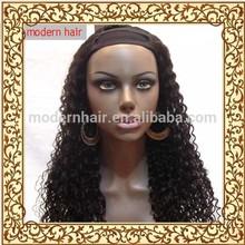 factory custom 100 virgin brazilian kinky cuely U part wig for black woman