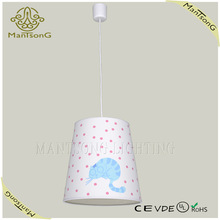 hot sale modern fabric and plastic colorful pendent light
