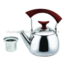 Red handle Stainless steel whistling kettle tea kettle