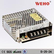 110VAC(220VAC) to 24vDC Power transformer 25 watt 24v dc power supply
