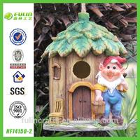 Garden Gnome Resin Bird Cage /Bird house