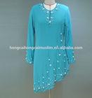 Fashion muslim abaya moroccan kaftan beaded embroidery design fabric