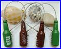 Forma de garrafa de cerveja 3 digit combination lock