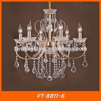 Guzhen Factory modern crystal hotel chandeliers for sale FT-8811-6