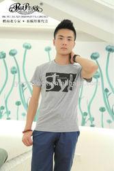 2014 Peijiaxin Fashion Design Casual Style Mens Wording Custom T shirt Printing