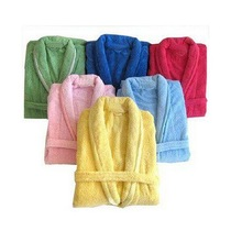 best selling low price bathrobe baby polyester robes shawl collar sleep robe super soft polar colorful Coral fleece sleepwear