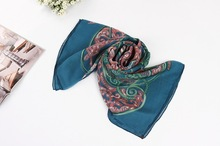 Fashion hand rolled hem 100%Silk scarf big square scarf