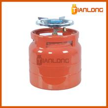6KG 14.4L SG295 Steel Cooking LPG Gas Cylinder / Lpg Cylinder
