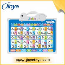 Educativos quadro de parede para a aprendizagem letra do alfabeto com prancheta