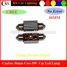 12V Canbus Led high power 5W Reading Lamp Bright Enough for Reading Festoon