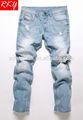 2014年ライトブルーデニムジーンズパンツメンズファッションジーンズパンツtdl7054-bブラシ