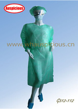 non woven Gown with elastic or knitted cuff