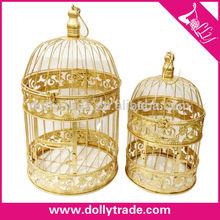 Pet Product Metal Wholesale Decorative Gold Bird Cages