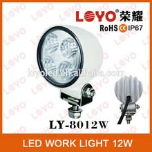 12w circle led working light white led work light for all cars