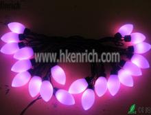230V pink C7 LED Ball string light for Christmas decoration ip64