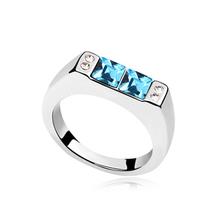 YesOneStop 2014 Fashion Women Turquoise Crystal Ring