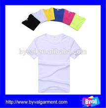 Wholesale Men's Dry Fit O-neck Plain White Tshirt Cheap100%cotton T shirt For Promotion