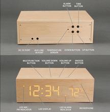 Wooden Portable Speaker,2.1 USB Speaker,Sound of Nature Speaker(Alarm Clock function)