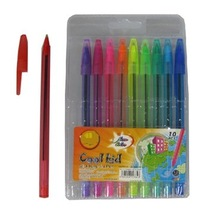 10 color stick ball pen
