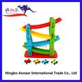 Crianças pequenos carros de brinquedo, Carros de brinquedo de madeira para crianças de madeira carro de slides, Wv6115 Sea deslize inclinação
