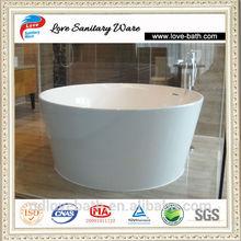 Italian Modern Custom Made Corian Round Bathtub Dimensions 1300*1300*600mm