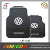 Custom black car mat with logo