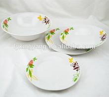 19pcs ceramic dinnerware, copper dinnerware set,floral dinnerware sets