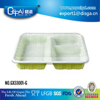 3-compartment takeaway food containers