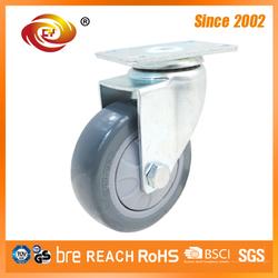 5 Inch Grey PU Industrial Caster Wheel