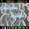Shaoxing de punto de poliamida spandex tela de encaje vestido de noche