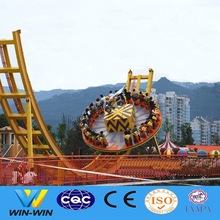 Crazy flying UFO disk outdoor luna park amusement ride for sale