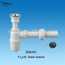 Kitchen sink drainer with strainer , Siphon bottle trap,wash basin waste sewer
