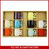 New Design Ceramic Coffee Mug With Number Holder