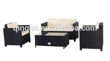 QHH-2013-S-14 K/D Rattan Sofa With Cushion Storage Table & 4pcs Sofa Furniture Outdoor