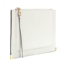 zipper closure wrist clutch bag with card slots inside