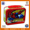 rectangular tin lunch box with spider-man printing