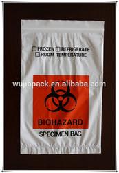 custom printed Specimen plastic ziplock bag