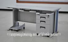 Steel &wood Office Desk/Dark Grey Office Desk For Staff Use