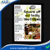 black light poster frames,led restaurant display board,side light picture frame led