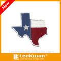 Hierro- en el bordado/oem estilo/estado de texas bandera parche bordado apliques para prendas de vestir/prendas de vestir/ropa