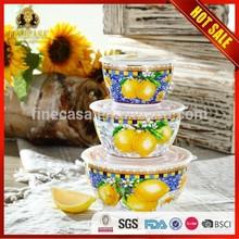 Elegant Style New Bone China Ceramic Food Container