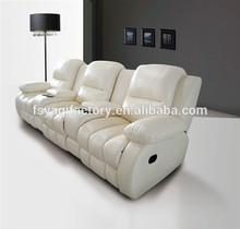 High quality leather sofa sets recliner sofa(YA-601-3)