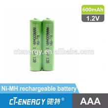 ni-mh battery/nimh aa 600mah 1.2v battery/Cordless phone battery *2 AAA 1.2V 600mAh