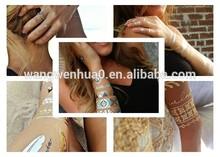 water transfer printing , metallic temporary tattoo , jewelry inspired temporary tattoos