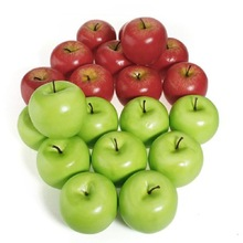 hot sale lifelike fake fruits artificial decorative apple for home decor and Christmas decor